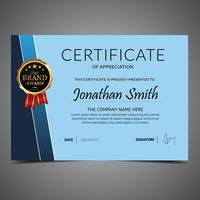 Blue Background Diploma Template