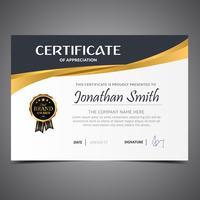 Elegant Gold Diploma Template
