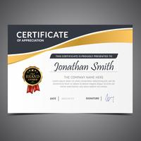 Minimalist Gold Diploma Template vector