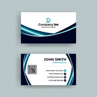 Blue Business Card With Lines