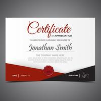 Red And Black Diploma Template