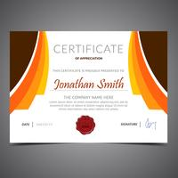 Orange Diploma Template vector