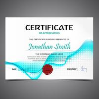 Blur Blue Diploma Template