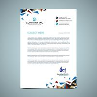 Blue And Gold Letterhead Design