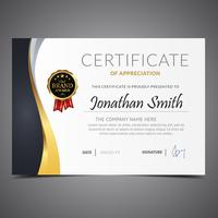 Modern Gold Diploma Template