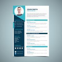 Elegant Blue Resume-ontwerp