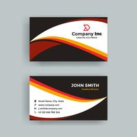 Black Orange Business Card