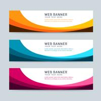 Curve Header Set vector