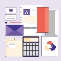 Elementos e acessórios do designer gráfico vetorial