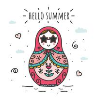 Hola Summer Vector