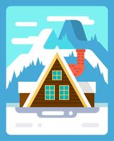 Flat Winter Landscape vector