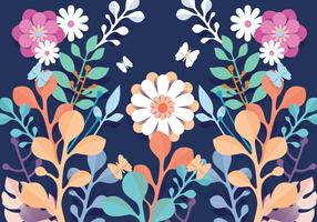 3D Floral Papercraft Pattern Flowers Vector