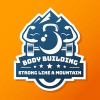 Etiqueta do logotipo do body building