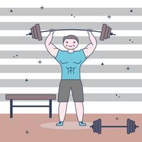 Bodybuilder Vector achtergrond
