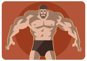 Vector de hombre musculoso