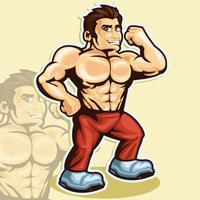 bodybuilder vettore