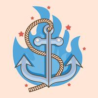 Anchor New Skool Tattoo Concept