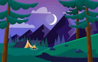 Vector Colourful Landscape Illustration