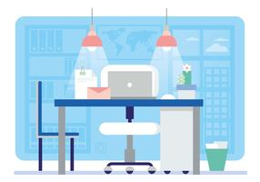 Vector Office Desk Illustration