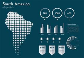 Vector de infografía de mapa de América del sur moderno