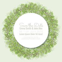 Vector Save the Date Wreath