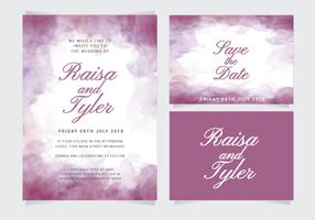 Vector Watercolor Wedding Invitation