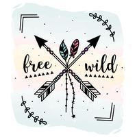 Vector salvaje y libre