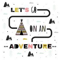 Lass uns auf einen Abenteuer-Vektor gehen
