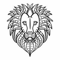 Lion Coloriage