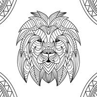 Coloring Book Lion Animal