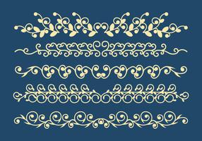 Dekorative Ornamente Vector Set