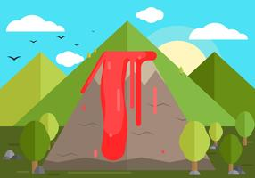 Volcano Background Illustration