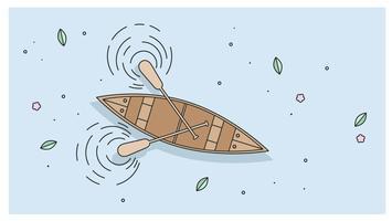 Vector de canoa