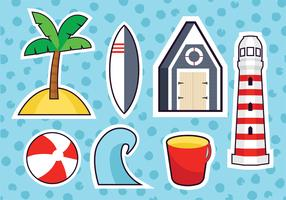 Beach Papercraft Vector Pack