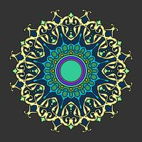 Mandala Decorative Ornaments Dark Background Vector