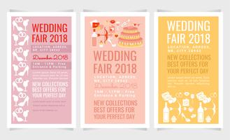 Vector Wedding Fair Flyers