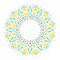 Mandala Decorative Ornaments White Background Vector