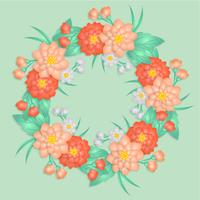 Vector Paper Flowers Wreath