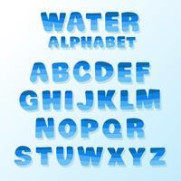 Vecteur de l'alphabet de l'eau
