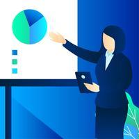 Vector de presentación de mujer de negocios