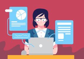 Bedrijfs Vrouw Met Laptop