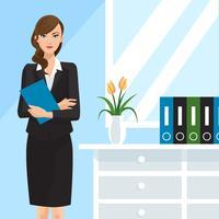 Vector de mujer de negocios