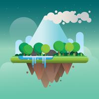 Estructura de la superficie de la Tierra y la ilustración del paisaje
