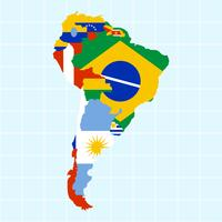 Unique Modern South America Map Vectors