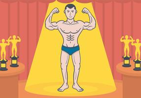Bodybuilder-vector-illustration