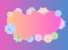 Vackra blommiga Papercraft vektorer
