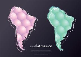 Modern South America Map Vector Design