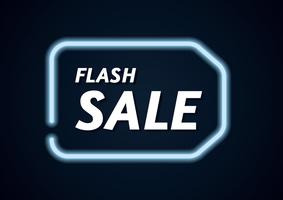 Flash Sale Neon Banner