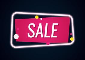 Banner de venda de néon geométrica