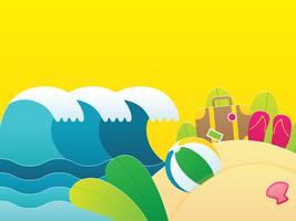 Fondo de verano con elementos de vacaciones de viaje